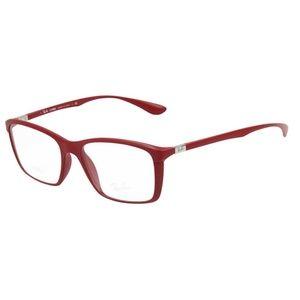 Ray-Ban Eyeglasses Matte Red w/Demo Lens